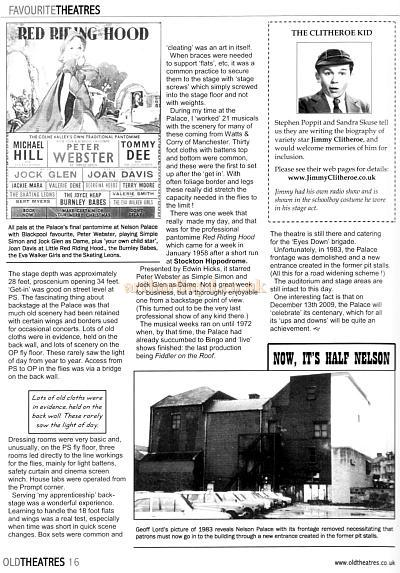 Article written by Geoff Lord and  reproduced from Old Theatres Magazine, Issue Two - Courtesy Terry Kirtland