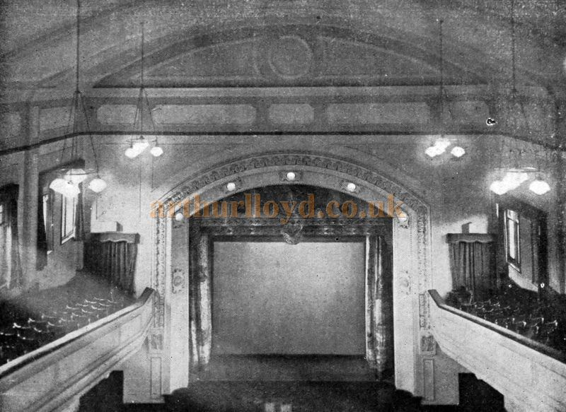 The Auditorium and Stage of the Majestic Theatre, Nelson - From the Supplement to the Cinema News and Property Gazette, 26th of November 1925.