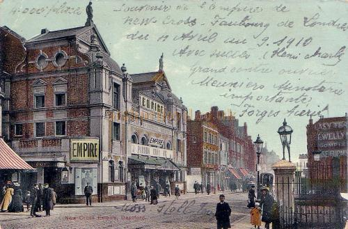 The New Cross Empire - From a postcard sent in 1910