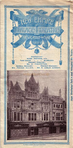 An Empire Palace Theatre Programme for 1904.