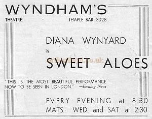 Add from the Hamlet programme advertising a play at Charles Wyndham's other Theatre, The Wyndham's.