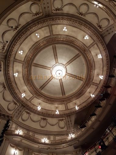 The Auditorium and Ceiling of the Noel Coward Theatre in July 2016