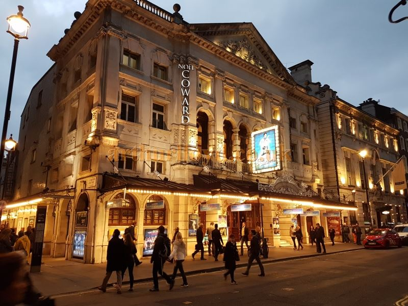 The Noel Coward Theatre during production for 'Half A Sixpence' in October 2016