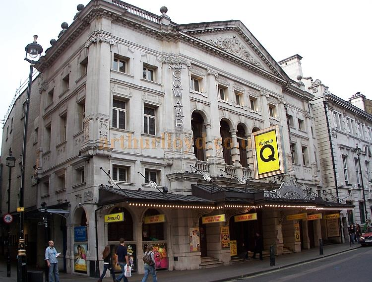 St. Martin's Lane and the the Noel Coward Theatre during the run of 'Avenue Q' in October 2006 - Photo M.L.