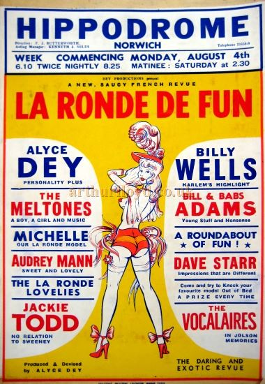 A 1950s Poster for the Norwich Hippodrome - Courtesy David Garratt