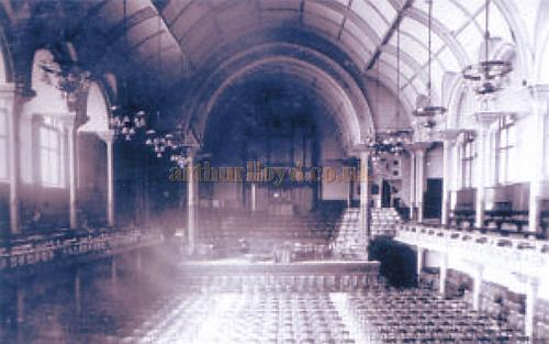 An early Photograph of the interior of the original Albert Hall, Nottingham