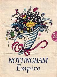 Variety Programme for the Nottingham Empire on Monday 28th November 1938