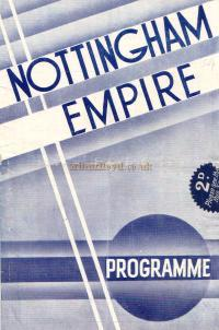 A Variety Programme for the Nottingham Empire on Monday may 27th 1935