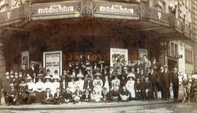 A Company photograph for a 'Twice nightly production of 'The demon of the Cellar' at the Nottingham Hippodrome in July 1910. - Courtesy Matt Downs.