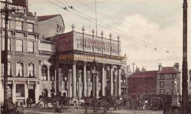 A postcard showing the Theatre Royal, Nottingham in 1905.