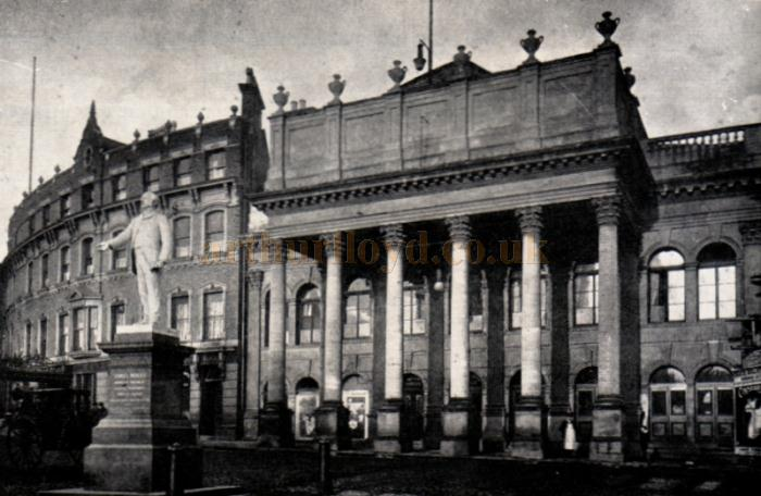 The Theatre as it was in 1895 - much the same as today - only the pedestrian and vehicular traffic betray the years between