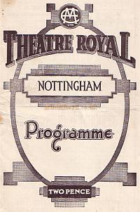 Programe for Hamilton Dean and his company performing in 'When we were young' at the Theatre Royal, Nottingham on July 24th 1933.