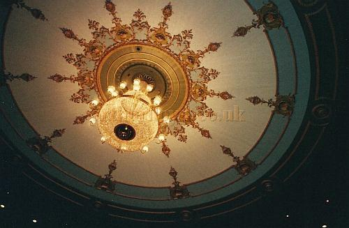The Auditorium ceiling of the Theatre Royal, Nottingham today - Courtesy David Garratt.