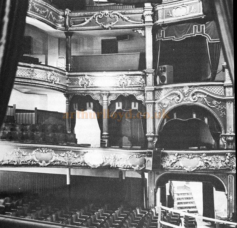 Matcham's 1897 Theatre Royal Nottingham auditorium before the 1977 reconstruction - Courtesy John West