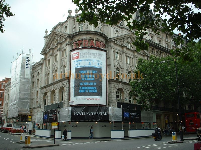 The Strand Theatre being refurbished and it's name changed to the Novello Theatre in July 2005 - Photo M.L.