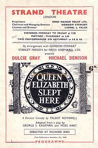 Programme for the Strand Theatre 1949