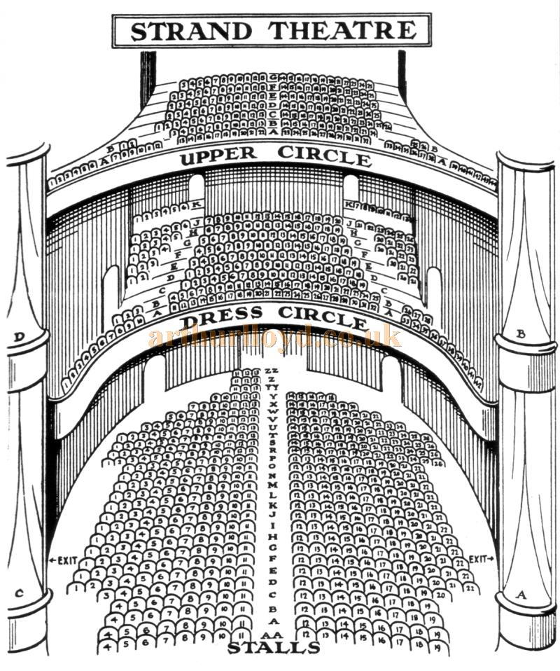 An early Seating Plan for the Strand Theatre, probably 1920s