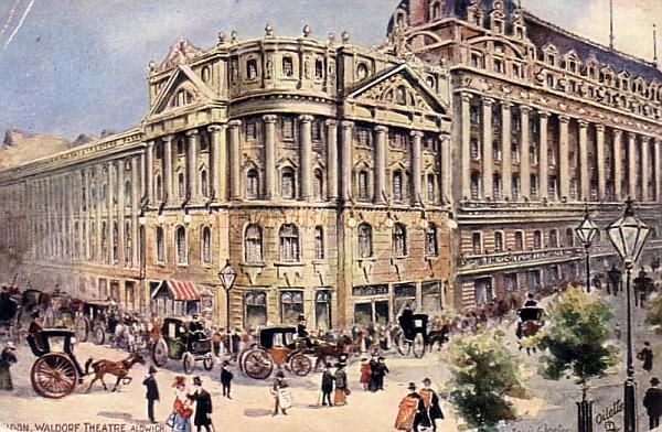 The Waldorf Theatre, Aldwych - From an early postcard