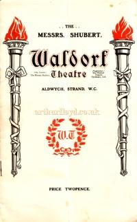 A programme for 'Lights Out' at the Waldorf Theatre in October 1905, one of the first plays to be produced at the Waldorf in its opening year.