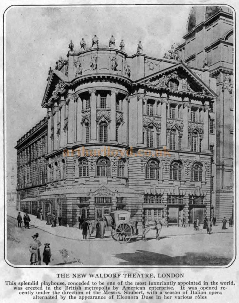 The New Waldorf Theatre, London- From 'The Theatre Magazine', July 1905