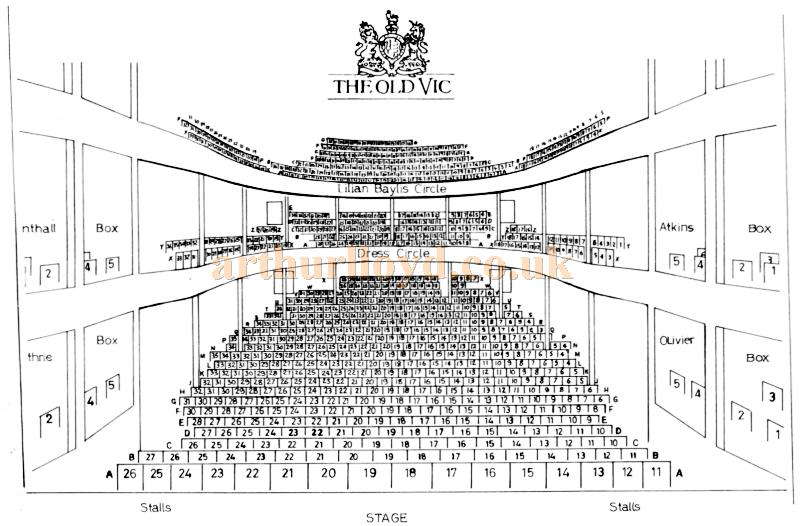 A 1970s Seating Plan for the Old Vic Theatre