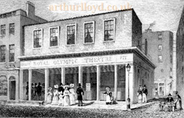 The Olympic Theatre in 1831 - Courtesy Tony Meech