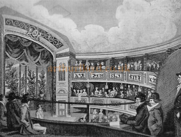 The Auditorium of the second Olympic Theatre - From 'London's lost theatres of the 19th century' by Errol Sherson.