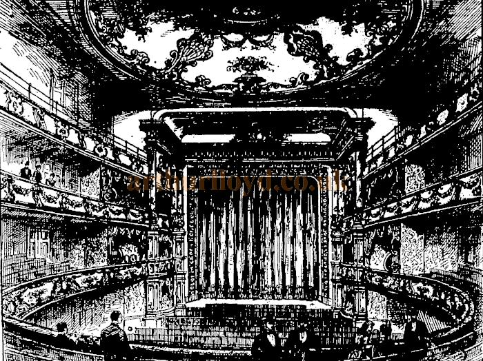The interior of the third Olympic Theatre - From the 'Penny Illustrated' 6th December 1890.
