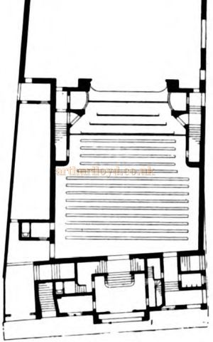 A Ground Plan of Bertie Crewe's design for Brickwells' Paisley Theatre - Courtesy Graeme Smith.