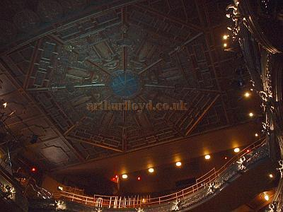 Left - The Auditorium Celing of the Palace Theatre in 2004. - Photo M.L.