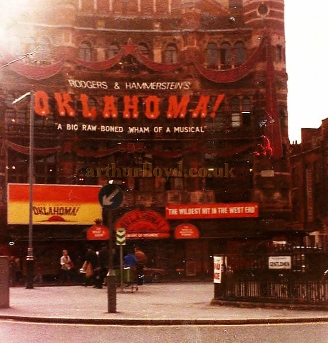 The Palace Theatre during the run of 'Oklahoma' in 1980 - Courtesy Jason Mullen