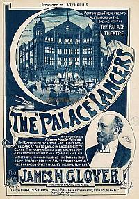 The opening night music cover for the Palace Theatre for November 1892 - Courtesy PeoplePlay UK.