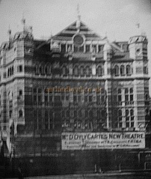 The Royal English Opera on it's opening in 1891 - Courtesy Really Useful Theatres. - Click for more  information of the building of the Theatre