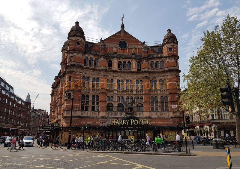 The Palace Theatre during production for 'Harry Potter and The Cursed Child Parts 1 and 2' in May 2016