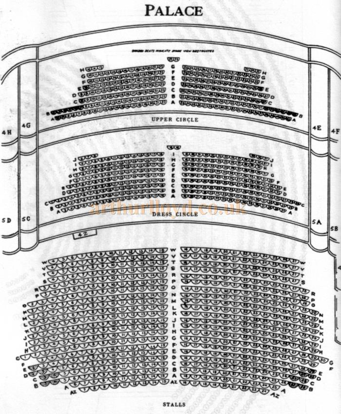 A 1970s Seating Plan for the Palace Theatre