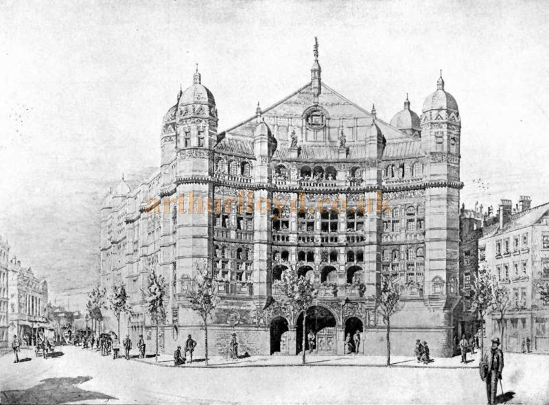 A Sketch showing T. E. Collcutt's Palace Theatre, London - From the 'Academy Architecture and Architectural Review' of 1913.