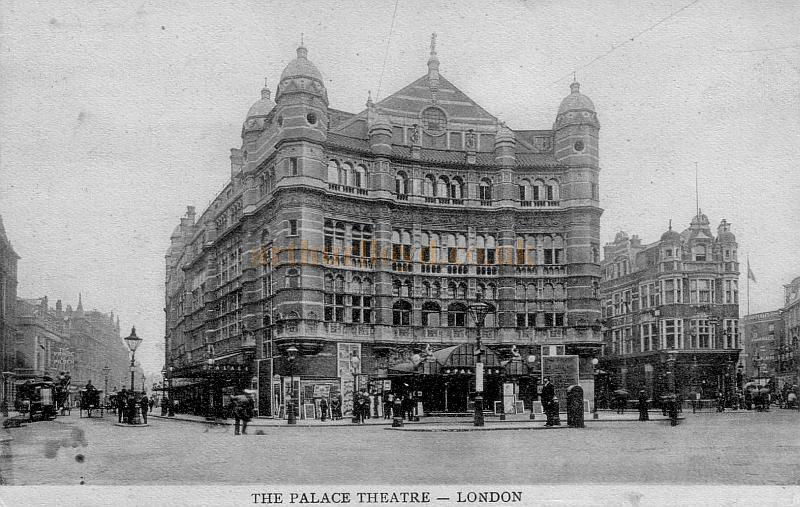 The Palace Theatre in the early 1900s, also showing the original Shaftesbury Theatre to the left of the picture.