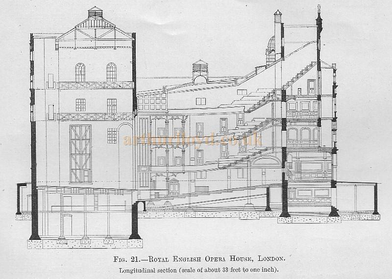 The Building of the Royal English Opera House London in 1891 Now – Royal Opera House Floor Plan