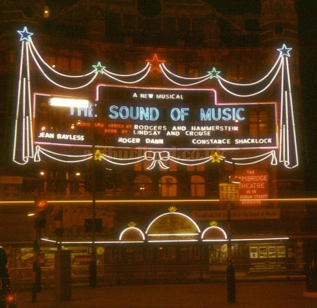 The Palace Theatre during the run of 'The Sound Of Music' in 1961 - Photo Chris Phillips - Courtesy Jason Mullen