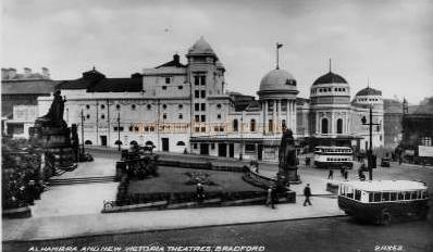 The Alhambra And New Victoria Theatres Bradford - From a postcard