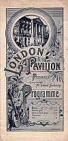 London Pavilion Programme February 1st 1892 with Arthur Lloyd  - Click to see entire programme