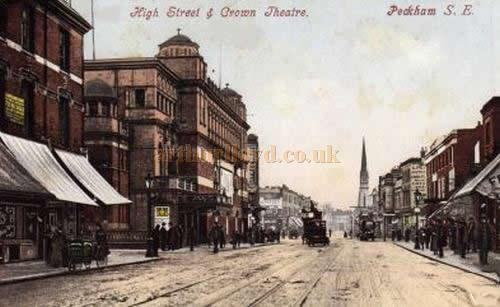 The Crown Theatre, High Street, Peckham - From an early Postcard.