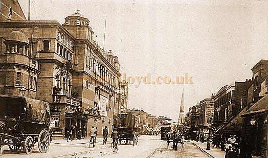 The Crown Theatre, High Street Peckham in a 1905 postcard - Courtesy Graham Hoadly.