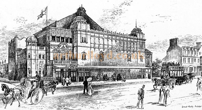 A Sketch of the Crown Theatre, Peckham by its Architect, Ernest Runtz - From the Academy Architecture and Architectural review of 1898.