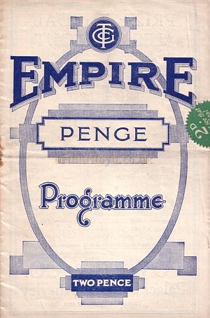 A programme for 'The Bing Boys Are Here' at the Penge Empire, February 18th 1935 - Courtesy Roy Cross - Click to see more of this programme.