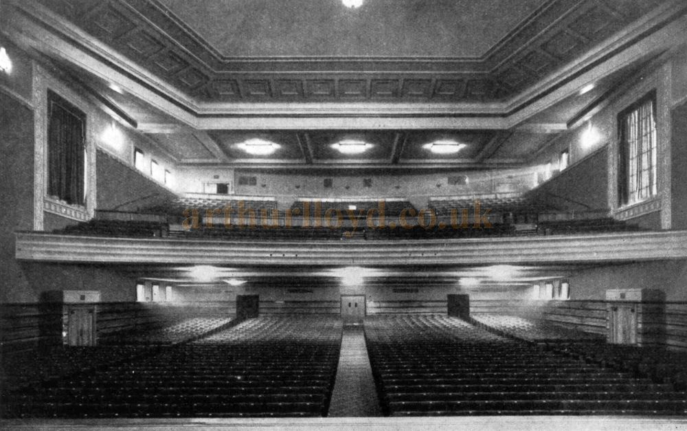A photograph of the Auditorium of the People's Palace Theatre, Mile End - Courtesy Roger Fox.