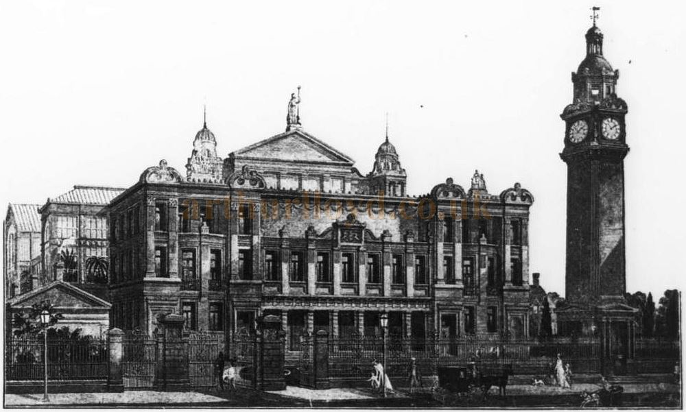 The Original People's Palace, Mile End as designed by the architect E. R. Robson F.R.I.B.A. - From the Academy Architecture and Architectural Review of 1889.