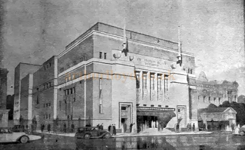 The People's Palace Theatre as originally designed - From a Programme for Good Friday, 7th of April 1950 - Courtesy Martin Clark.