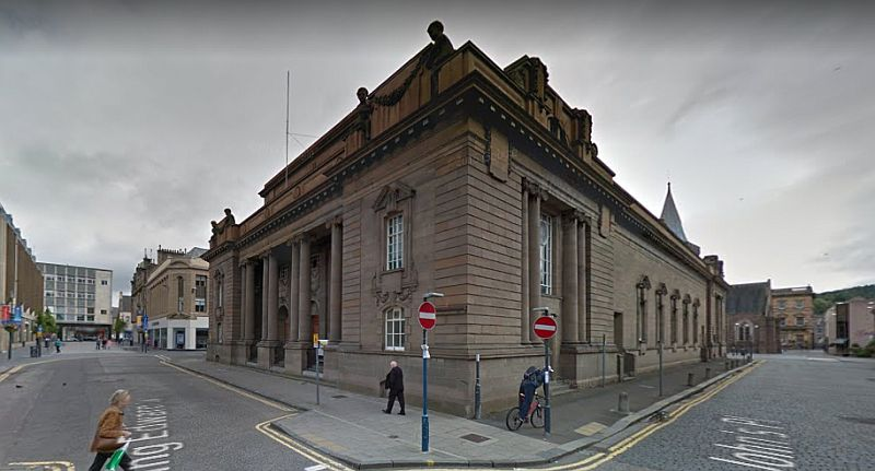 A google StreetView Image showing the 1910 built City Hall, Perth - Click to Interact.