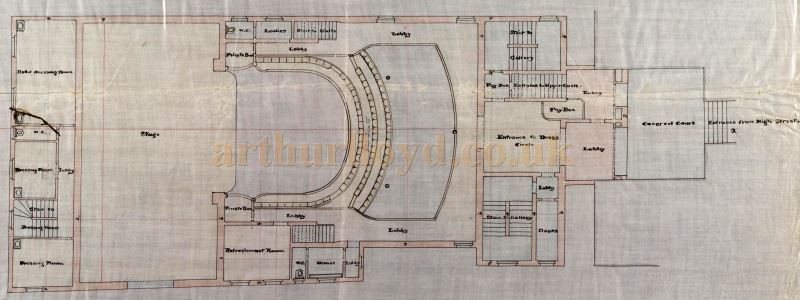 An original Dress Circle plan of the Perth Theatre, drawn by William Alexander in 1898 - Courtesy the Perth Theatre Project team and Perth & Kinross Council Libraries.